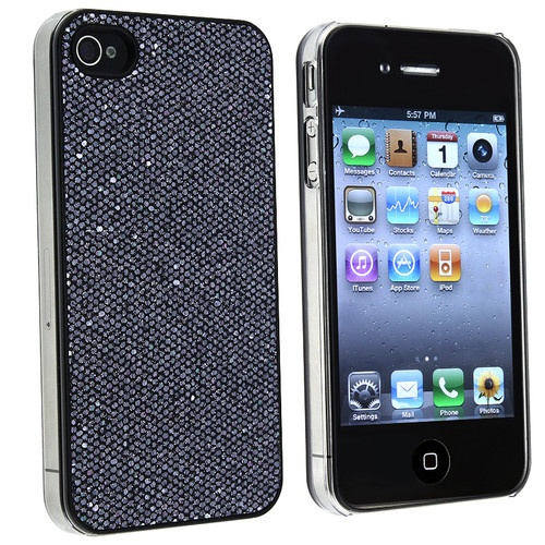 Pink Purple Black Red Silver Luxury Bling Shiny Glitter Case for iPhone 4 4S 4G | eBay