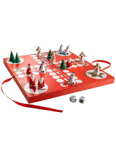 Mensch ärgere Dich nicht - es ist doch Weihnachten! Für stilechten weihnachtlichen Spielspaß mit der ganzen Familie sorgt dieses liebevoll dekorierte Brettspiel. Garantiert! #Weihnachten #Geschenk
