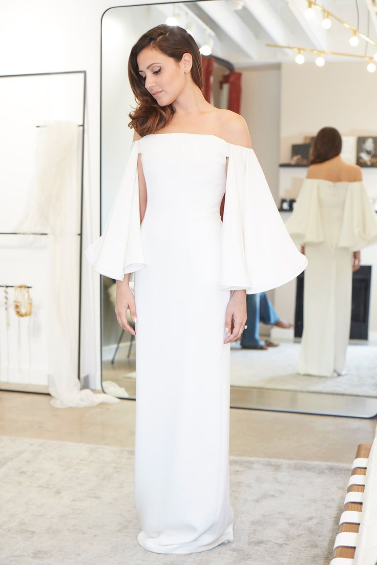 """We Helped Actress Italia Ricci Find Her Perfect Wedding Dress - Houghton """"Gamila"""" gown at Loho Bride, $3,275. from InStyle.com"""