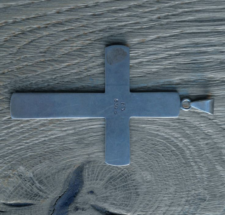 I B Jensen. Skonvirke cross. 830 silver. Marked 'BJ'. View 3 of 3.