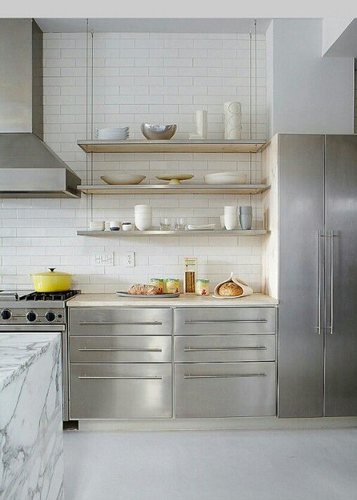 Subway tile can be a great, clean lined accent to a modern inspired kitchen.