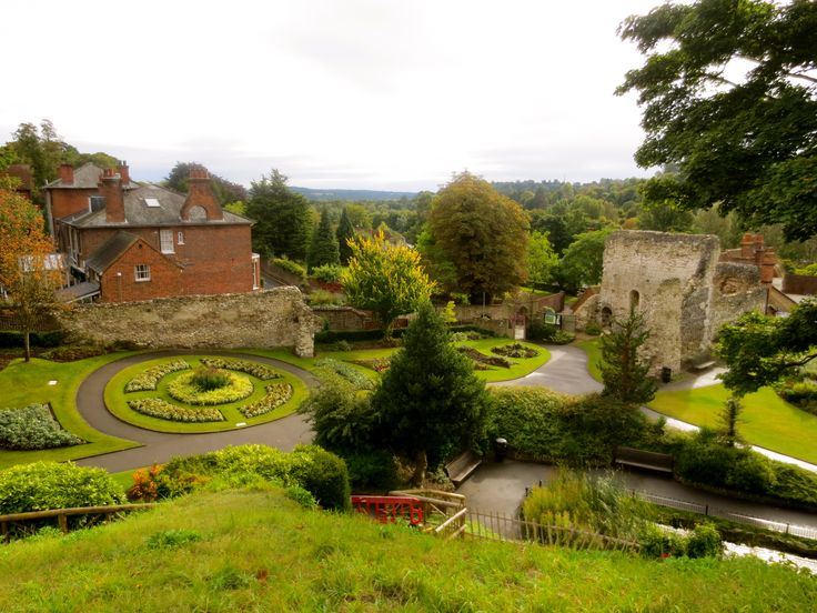 View from Guildford Castle, Surrey, England