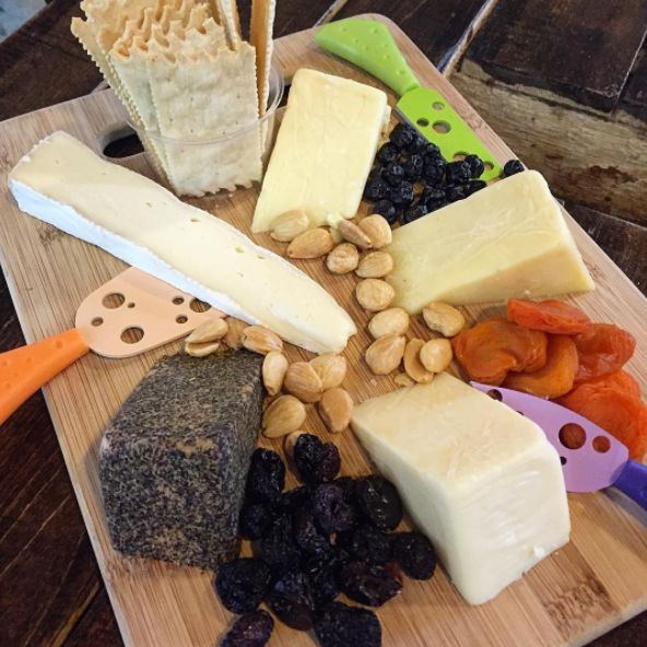 We can make a custom cheese board for you when you come to visit our creamery in Bandon! Our local dairy partners, and hands-on cheddar process guarantee the artisan quality cheese lovers expect. We're no slice off the ordinary block.  Photo taken @ Face Rock Creamery by IG:missandreajustine