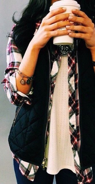 & to top off the perfect layered fall outfit .... alex and ani bracelets #welldone ... im sure thats a pumpkin spiced latte too (';