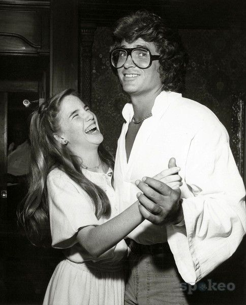 Michael Landon and Melissa Gilbert