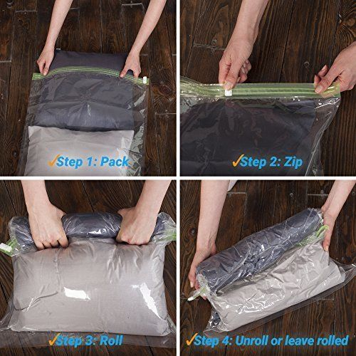 Space Saver Storage Bags for Clothes Reusable Packing Organizer Rolling Travel #TheChestnut