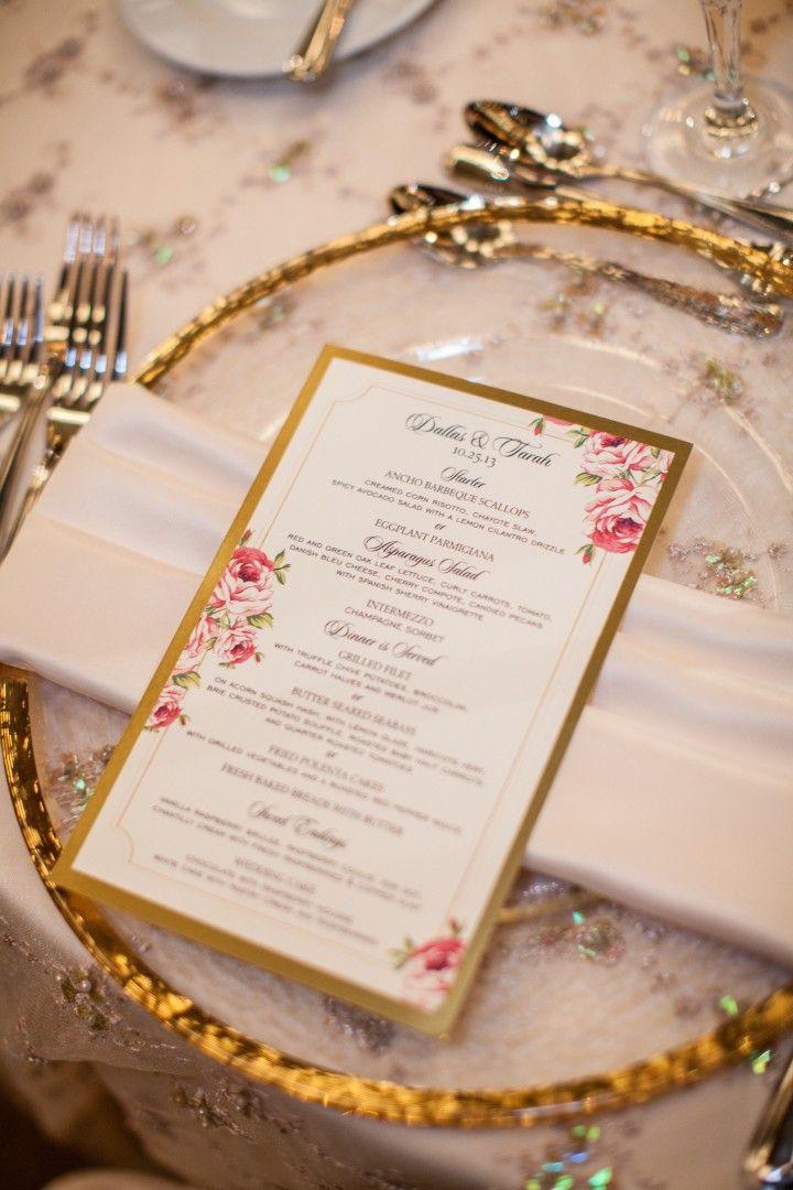 wedding menu card idea; photo: Bridgette Marie Photography