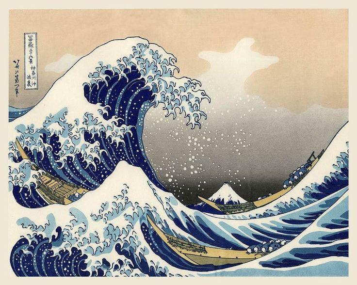 The Great Wave - Hokusai - Japanese Art Print - 16x20 #Vintage