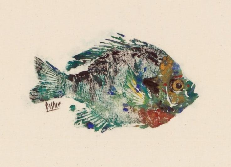 Bluegill - Gyotaku Fish Rubbing