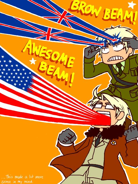 Mighty Britannia and Awesome USA! there's just something funny about this