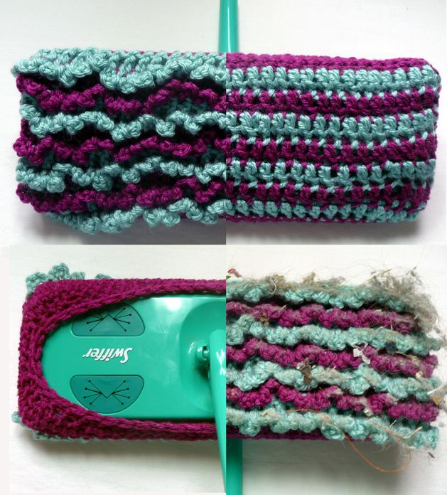 CRAFT Pattern: Crocheted Reversible Swiffer Sock | MAKE: Craft