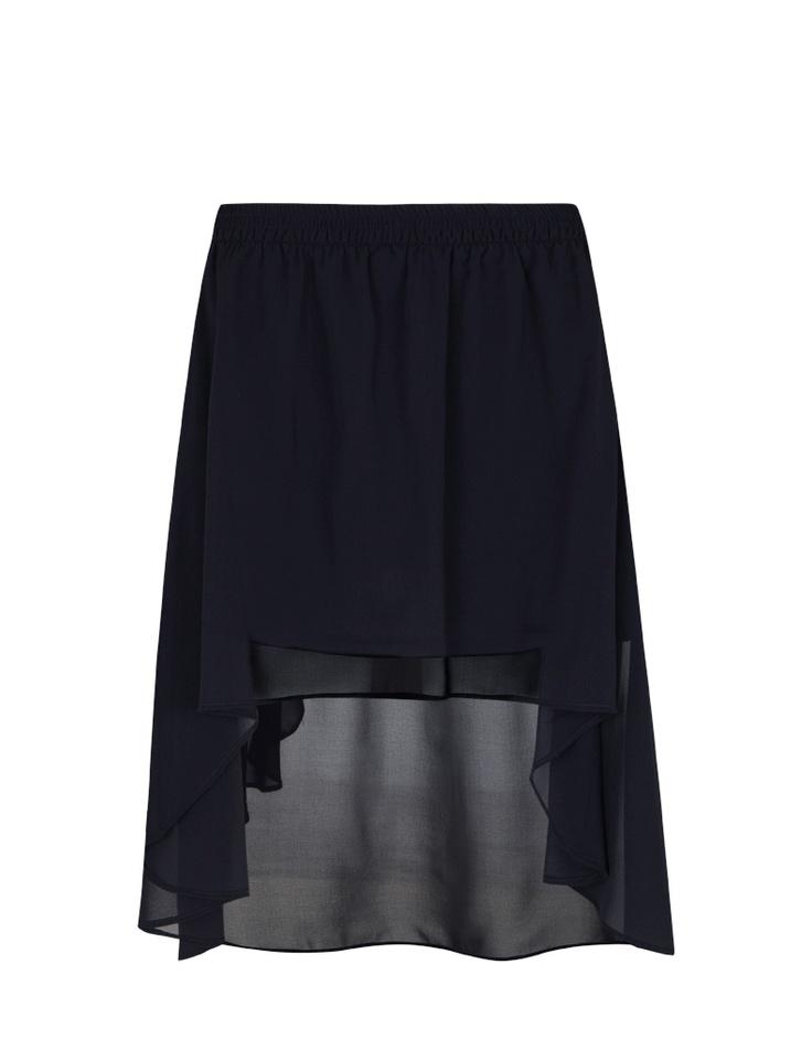 BLANCO SS12  Falda tul con largo asimétrico - Tail hem  19,95€  Color: negro  Encontraréis posibles ideas de combinaciones en mi blog: http://lascosasdemaku.blogspot.com.es/2012/04/combinando-mi-falda-asimetrica-negra.html