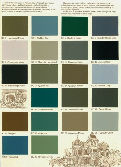 Historic Exterior House Colors   color concert color choices no color desired from this chart 5 17p ...