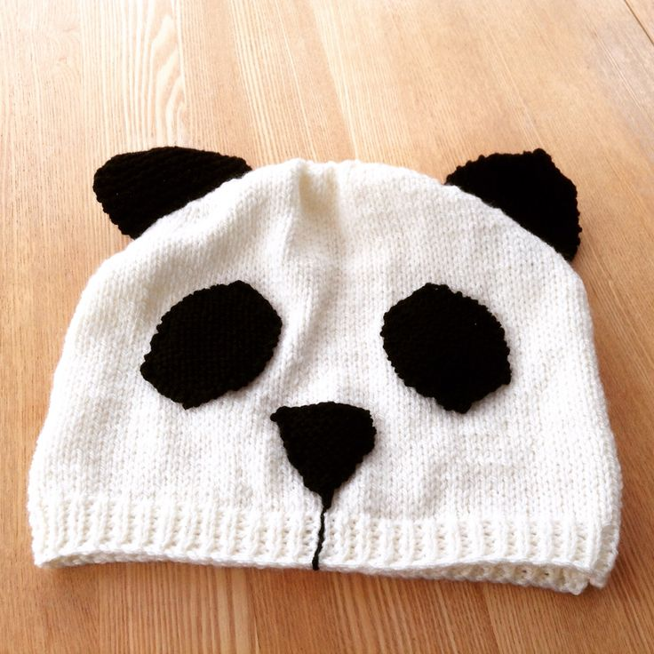 Panda hat for Kate