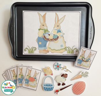 Easter Themed Speech Therapy Activities Value Bundle - Use this 174 page resource with your preschool, Kindergarten, 1st, or 2nd grade students. It's great to practice vocabulary and speech therapy during the Easter season. Click to see all the printable worksheets, activities, and games included! You get vocabulary, craftivities, pronouns, and propositions. {preK, K, first, second graders - worksheets}