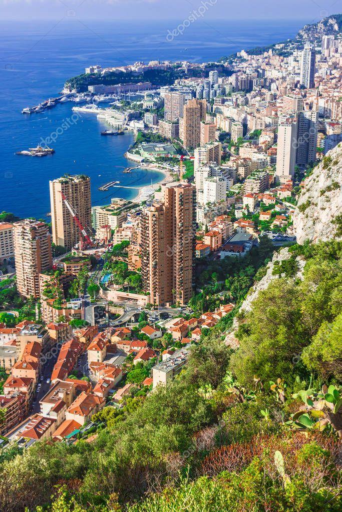 View City Monaco French Riviera Stock Photo Sponsored