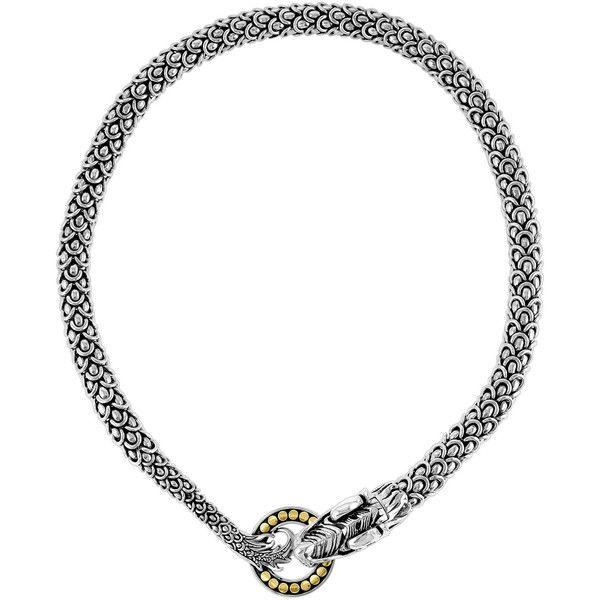 John Hardy Naga Dragon Necklace (€2.370) ❤ liked on Polyvore featuring jewelry, necklaces, john hardy jewelry, 18 karat gold jewelry, pearl chain necklace, john hardy necklace and hand crafted jewelry