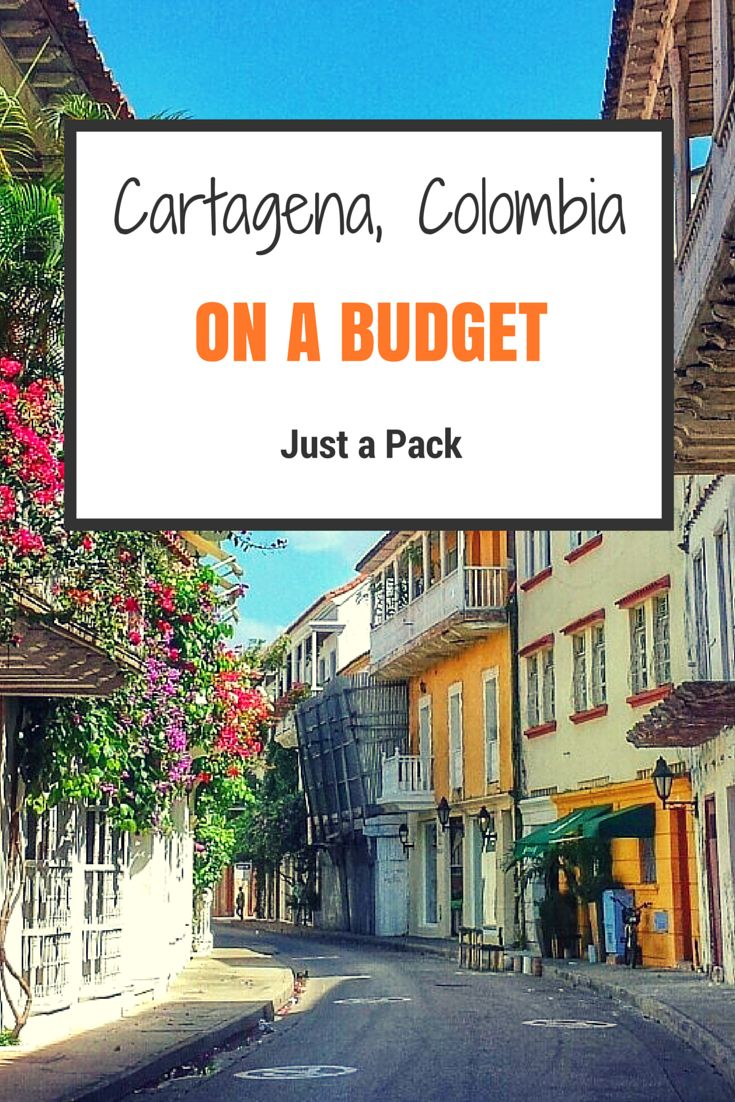 Cartagena, Colombia for as low as $25/day? Yup, it's possible! Here is how.  By #justapack #travel #colombia #cartagena