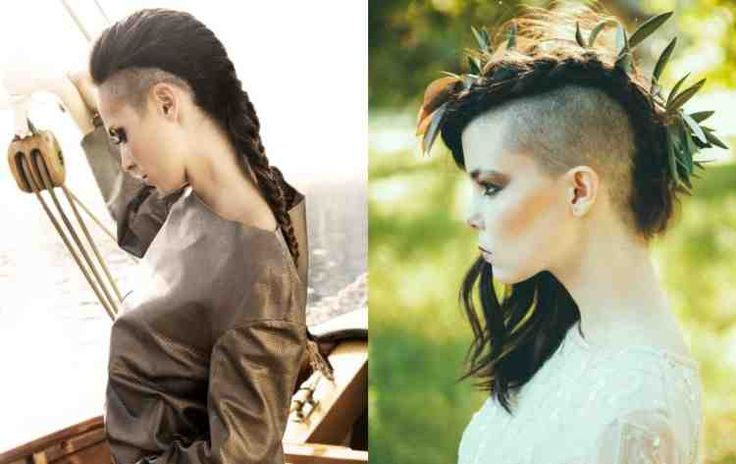 Sidecut and braids for an elegant look