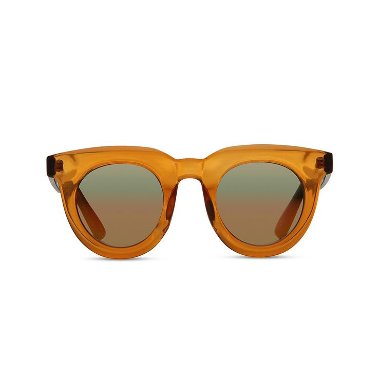 LOVE these retro frames...  SUPA SUNDAYS | Passion Pit Tangerine Sunglasses at LVBT