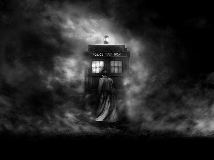 Doctor Who- TARDIS I'd buy a print of this.: Tenth Doctor