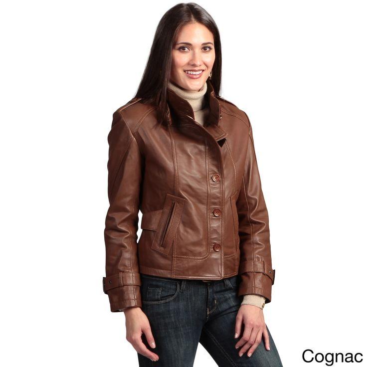 Collezione Italia Womens Lambskin Leather Jacket