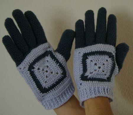 gants granny au crochet