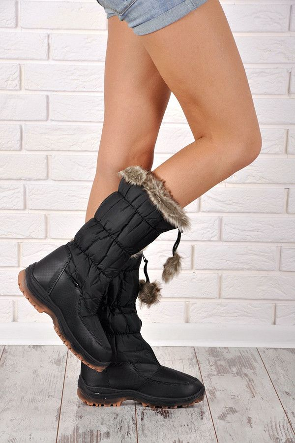 robust snow boots Thick snow boots for women - perfect for cold days. Studded sole protects against the cold, hard ground and has a non-slip properties. Clasp to the original zip at the front of the shoe. Soft-skinned fur. https://cosmopolitus.eu/product-eng-45980-.html #snow #boots #forladies #fashionable #cheap #winter #warm #comfortable