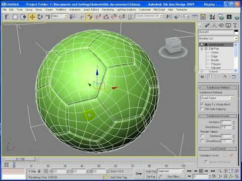 Soccerball 3D Modeling Tutorial - 3ds Max -Realistic - YouTube