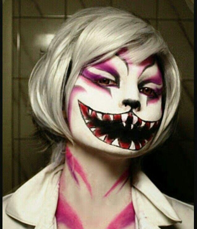 scary cheshire cat makeup halloween pinterest