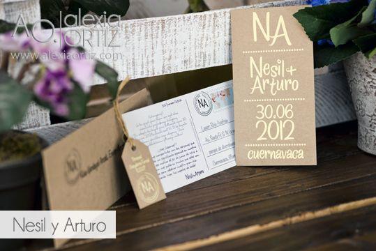 Invitaciones de boda tipo postal / invitaciones de boda / wedding invitations