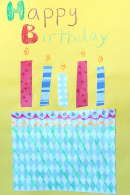 First week of school - students make birthday cards to give to friends on their birthdays (from the class).