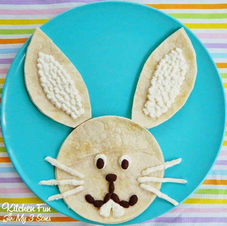 Easter Bunny Quesadilla Dinner