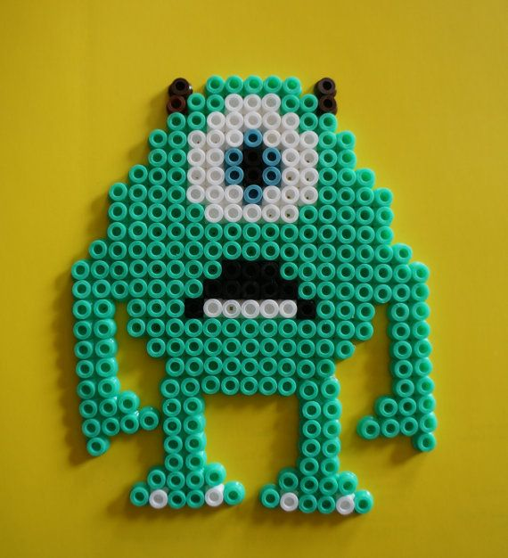 Monsters INC Mike Hama beads magnet by Alabauhaus