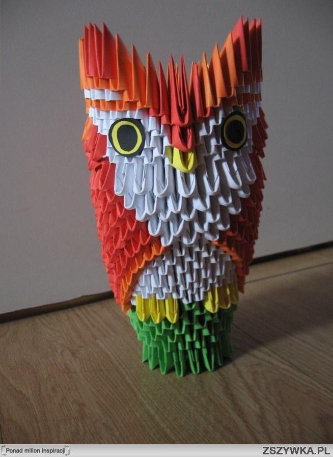 Zobacz zdjęcie Sowa -  origami modułowe :) w pełnej rozdzielczości
