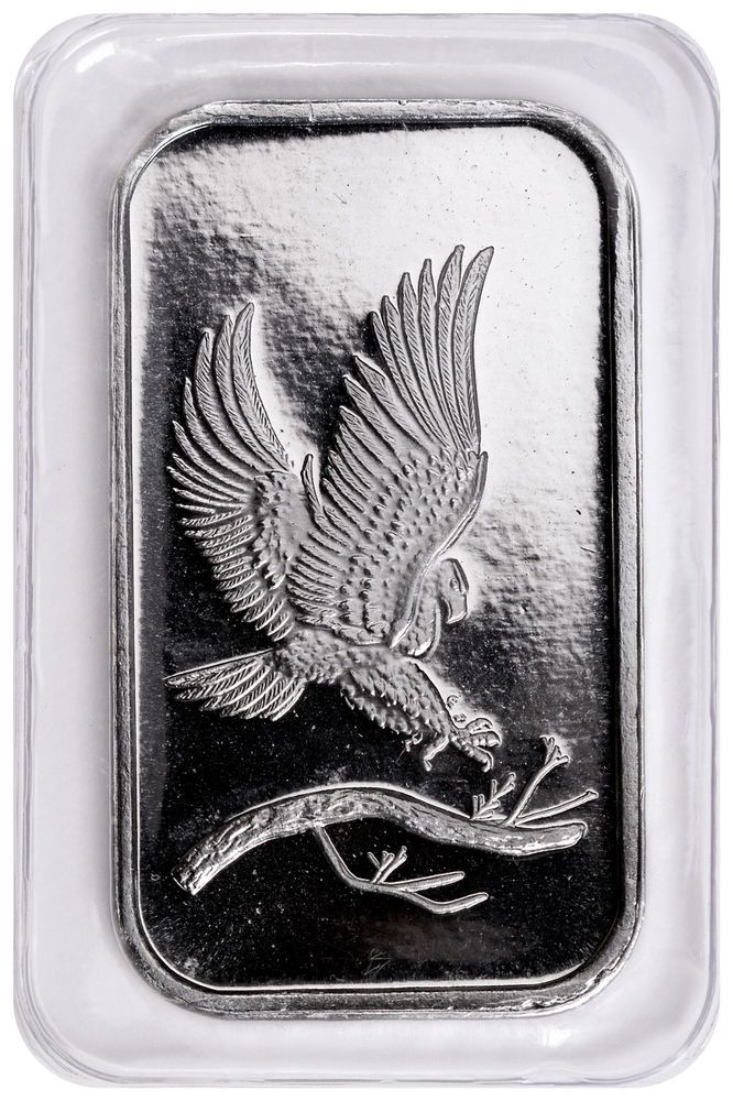 Private Mint Eagle Design 1 Oz 999 Fine Silver Bar Sku48242 Ebay Eagle Design Silver Bars Fine Silver