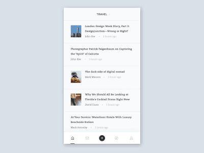 Mobile Blog App Interaction byGhani Pradita—The Best iPhone Device Mockups → store.ramotion.com