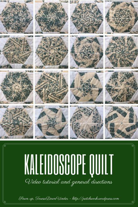Video tutorial: Kaleidoscope quilt - one block wonder - whack and stack