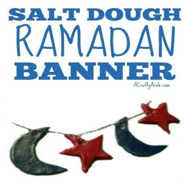 Day 12 of our Ramadan crafts challenge had us playing with salt dough in the kitchen.  We had a short day at school today and needed a few hours to waste before starting homework. I thought making a Ramadan banner to decorate our stairs would be a perfect distraction.  In fact, we had …