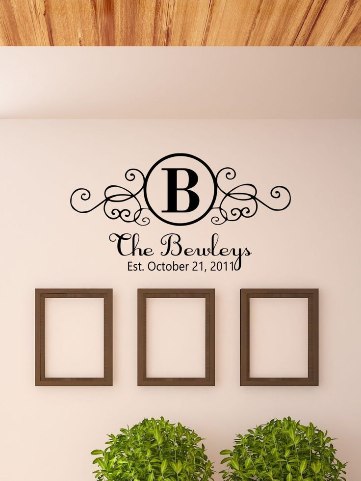 Best MonogramNameInitials Vinyl Decals By The Vinyl Company - Custom vinyl lettering for walls