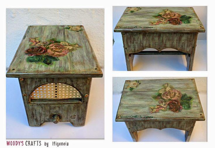 Νέο σχέδιο για βοηθητικό καρεκλάκι για το σπίτι ή τον κήπο από τα Woody's Crafts by ifigeneia.