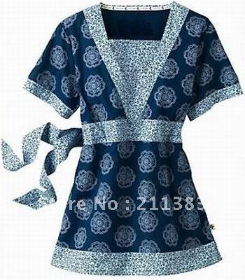 Fashionable Scrub Sets for Women   Women cotton loose nurse uniform hospital uniform medical scrubs tops ...