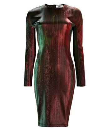 Multi Metallic Pencil Dress  #Matchesfashion