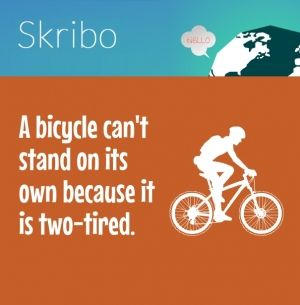A bicycle can't stand on its own because it is two-tired.
