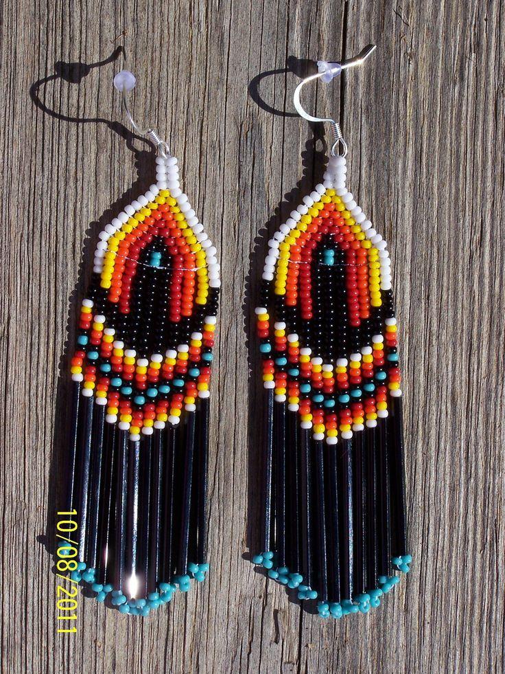 Native American Beaded Fringe Earrings. $19.99, via Etsy.
