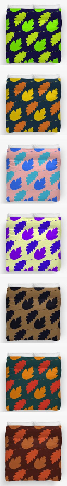 Colorful and warm Autumn Leaves Duvet Covers by Steel Graphics.