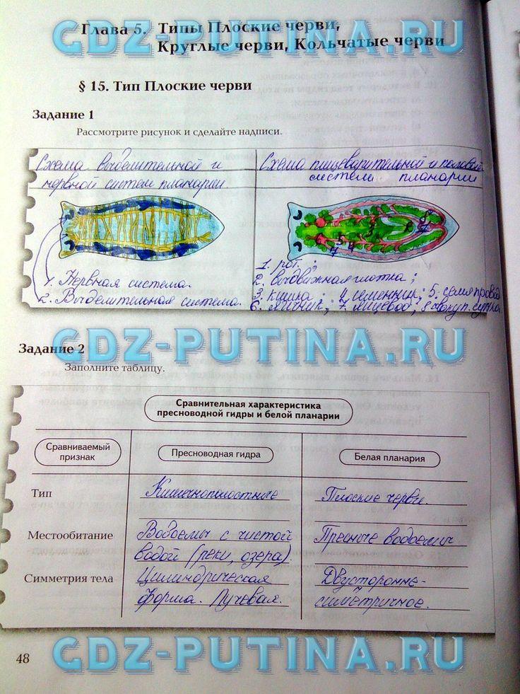 Решебник тетрадь по биологии 7 класс не скачивать а калинчук н.гусева