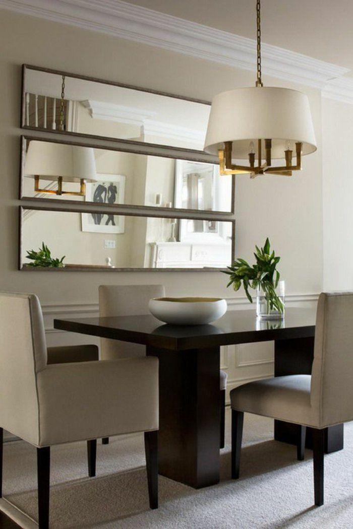 salle a manger complete pas cher avec murs beiges et lustre ...