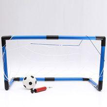 Mini Portable objectif Youth Soccer Football Net pompe Set extérieur intérieur de formation enfants livraison gratuite(China (Mainland))