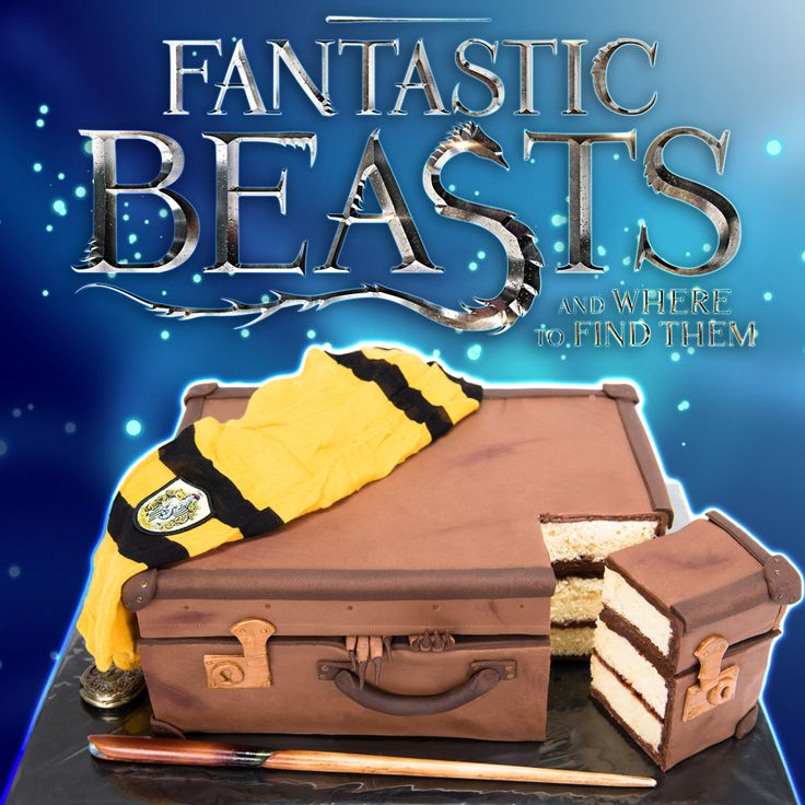 Fantastic Beasts and Where to Find Them Suitcase Cake (Harry Potter Cake) ~ Cookies, Cupcakes, and Cardio